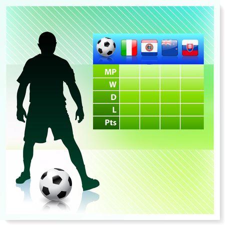 bracket chart: SoccerFootball Group F Stock Photo