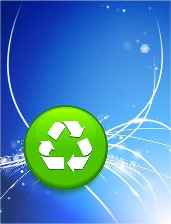 Recycle Button on Abstract Modern Light Background Original Illustration