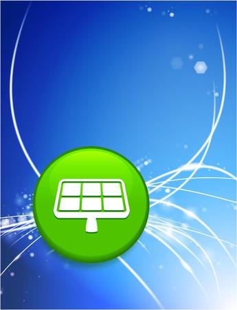 Solar Panel Button on Abstract Modern Light Background Original Illustration