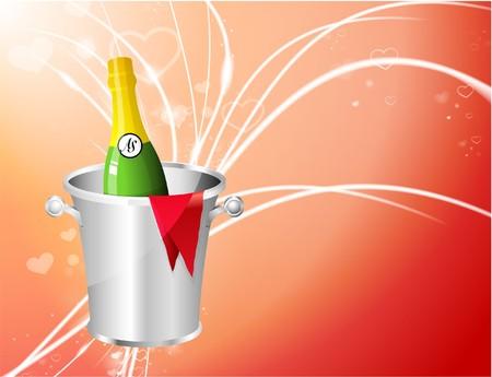 Champagne on Abstract Modern Light BackgroundOriginal Illustration Stock Illustration - 6926096