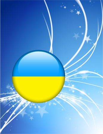 近代的な光の抽象的な背景ウクライナ国旗ボタン オリジナル イラスト