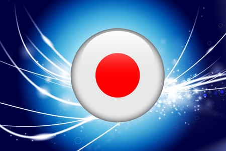 Japan knop markeren op abstracte moderne lichte achtergrond Oorspronkelijke afbeelding