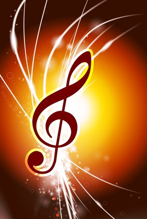 Music Note on Abstract Modern Light Background Original Illustration illustration