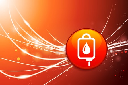 Blood Drip Button on Red Abstract Light Background Original Illustration Stock fotó