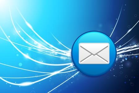 Email Button on Blue Abstract Light Background Original Illustration illustration