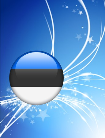 エストニア国旗ボタン光の抽象的な背景 オリジナル イラスト