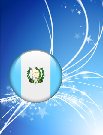 Guatemala Flag Button on Abstract Light Background Original Illustration