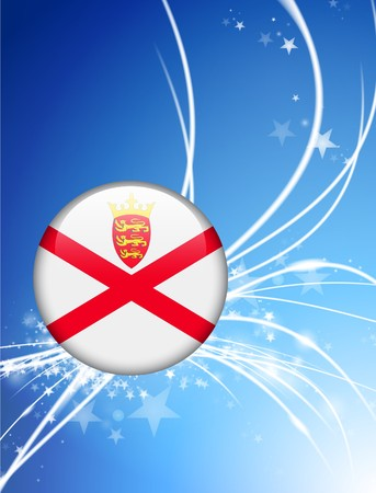 jersey: Jersey Flag Button on Abstract Light Background Original Illustration Stock Photo