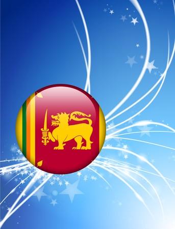 Sri Lanka Flag Button on Abstract Light Background Original Illustration illustration