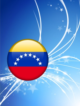 Venezuela Flag Button on Abstract Light Background Original Illustration illustration