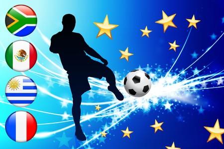 Global Soccer Event Group A Original Illustration illustration