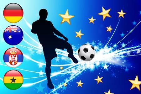 Global Soccer Event Group D Original Illustration illustration