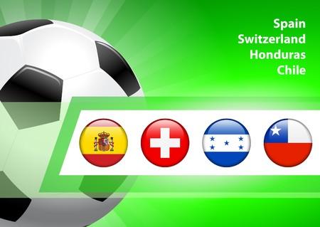 Global Soccer Event Group H Original Illustration illustration
