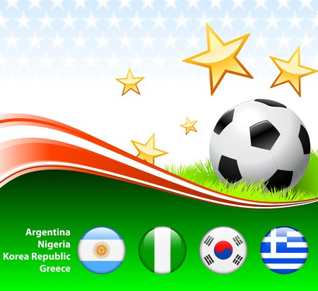 World Soccer Event Group B Original Illustration illustration