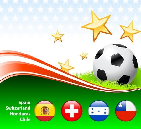 World Soccer Event Group H Original Illustration illustration