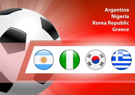 Global Soccer Event Group B Original Illustration illustration