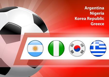 Global Soccer Event Group B Original Illustration