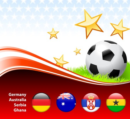 World Soccer Event Group D Original Illustration illustration