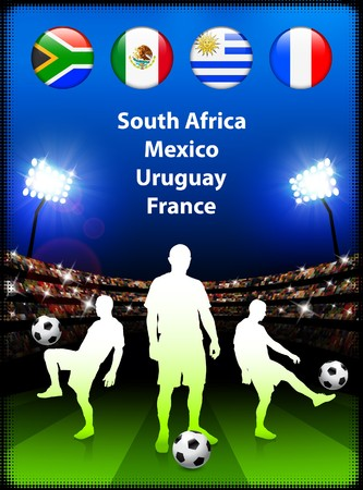 Soccer Player in Global Soccer Event Group A Original Illustration illustration