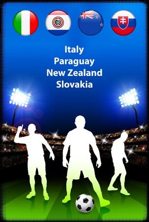 Soccer Player in Global Soccer Event Group F Original Illustration illustration