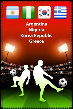 Soccer Player in Global Soccer Event Group B Original Illustration illustration