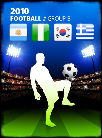 Soccer Player in Global Soccer Event Group B Original Illustration illustration