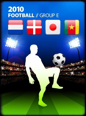 Soccer Player in Global Soccer Event Group E Original Illustration illustration