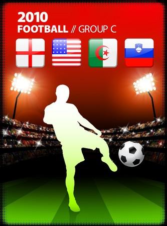 Soccer Player in Global Soccer Event Group C Original Illustration illustration