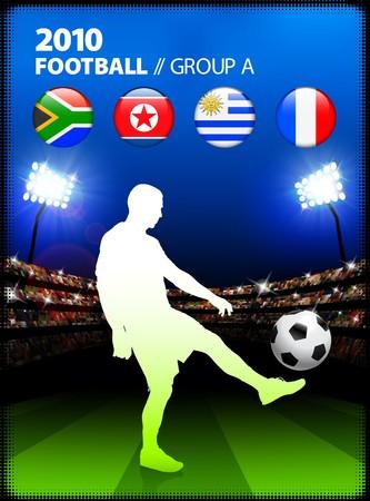 Soccer Player in Global Soccer Event Group AOriginal Illustration Stock Illustration - 7126470