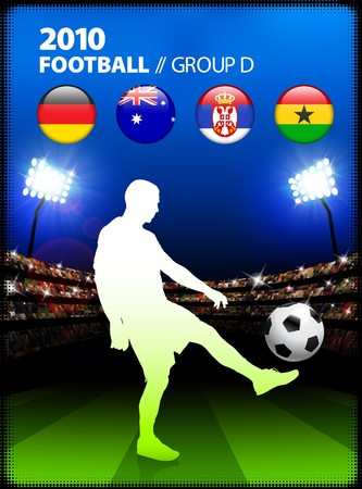 Soccer Player in Global Soccer Event Group D Original Illustration illustration