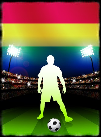 Bolivia Flag with Soccer Player on Stadium BackgroundOriginal Illustration Stock Illustration - 7457673