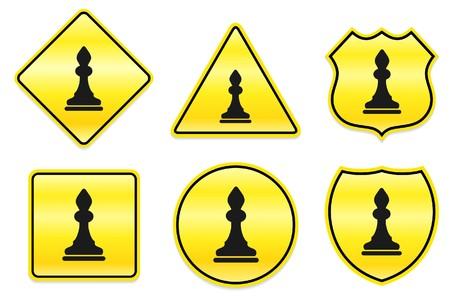 Bishop Icon on Yellow Designs Original Illustration illustration