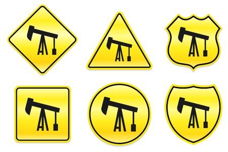 Olieboor pictogram op gele ontwerpen originele illustratie