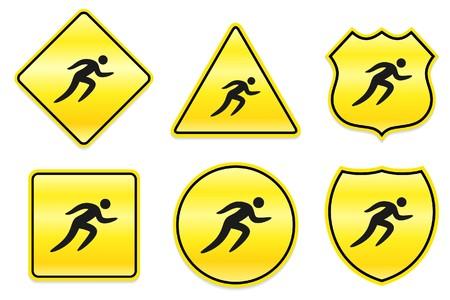 Sprint Icon on Yellow Designs Original Illustration