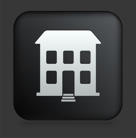 Building Icon on Square Black Internet Button Original Illustration illustration