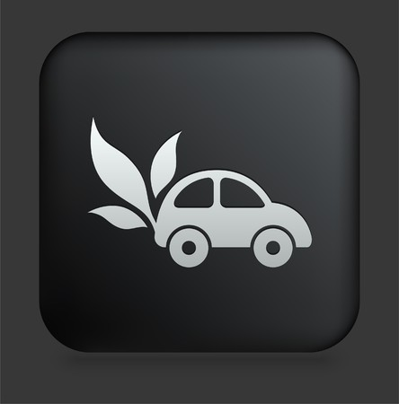Car Icon on Square Black Internet ButtonOriginal Illustration Stock Illustration - 7494376
