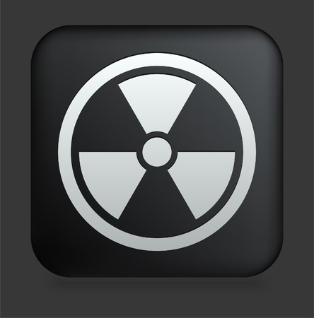 poison symbol: Hazard Icon on Square Black Internet Button Original Illustration Stock Photo