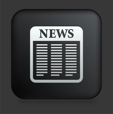 사각형 검은 인터넷 단추 원래 아이콘 그림에 신문 아이콘 스톡 콘텐츠