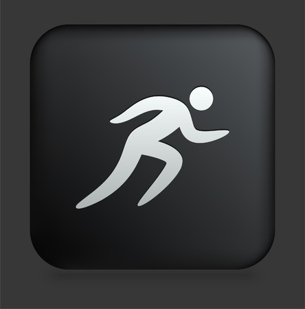 Sprint Icon on Square Black Internet Button Original Illustration illustration