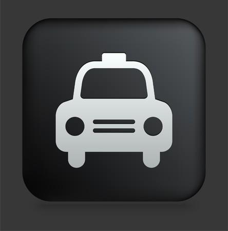 Taxi Cab Icon on Square Black Internet Button Original Illustration illustration