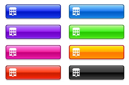 Building Icon on Long Button CollectionOriginal Illustration Stock Illustration - 7568843