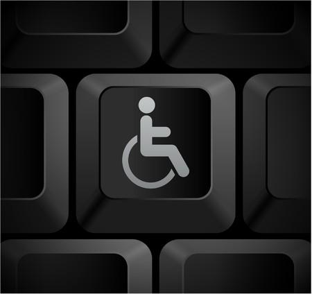 shortcut: Disabled Icon on Computer Keyboard Original Illustration Stock Photo