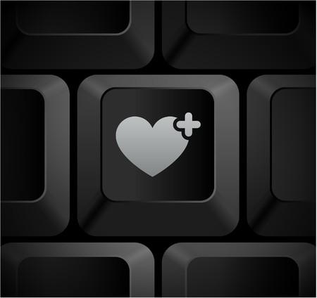 Icono de coraz�n en el teclado de PC Ilustraci�n original  Foto de archivo - 7568045