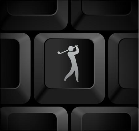 컴퓨터 키보드에 골프 아이콘을 원래 그림