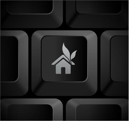 shortcut: House Icon on Computer Keyboard Original Illustration Stock Photo