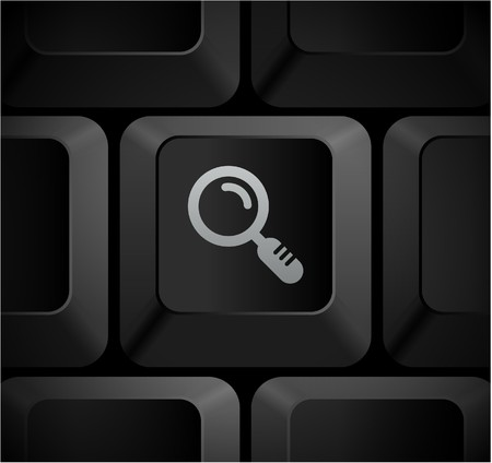 Magnifying Glass Icon on Computer Keyboard