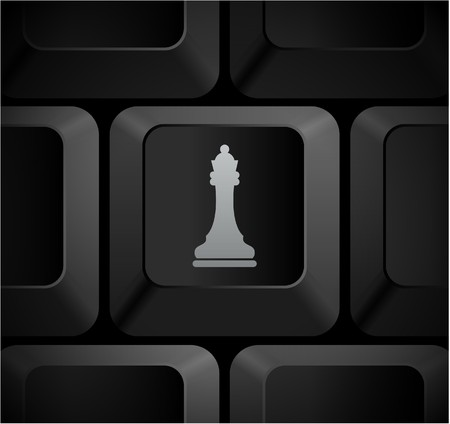 Chess Queen Icon on Computer Keyboard