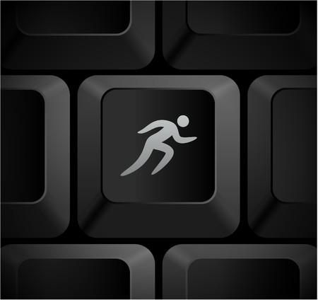 Sprint Icon on Computer KeyboardOriginal Illustration 写真素材
