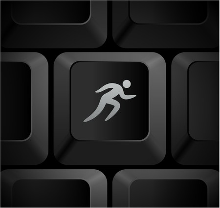 Sprint Icon on Computer Keyboard Original Illustration Stock Photo