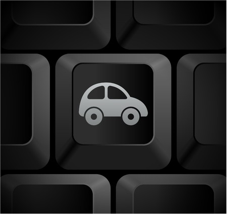 computer: Car Icon on Computer Keyboard Original Illustration Stock Photo